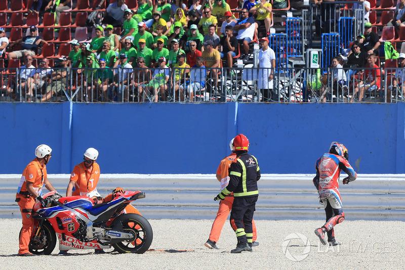 Аварія Штефана Брадля, HRC Honda Team