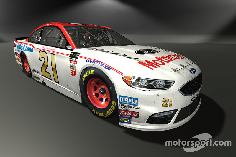 Paul Menard, Wood Brothers Racing, Ford Fusion - NASCAR Heat 3 skin