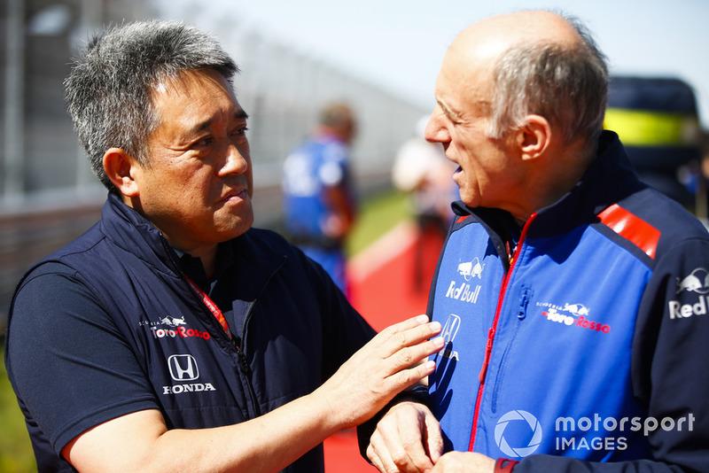 Masashi Yamamoto, General Manager, Honda Motorsport, Franz Tost, Team Principal, Scuderia Toro Rosso