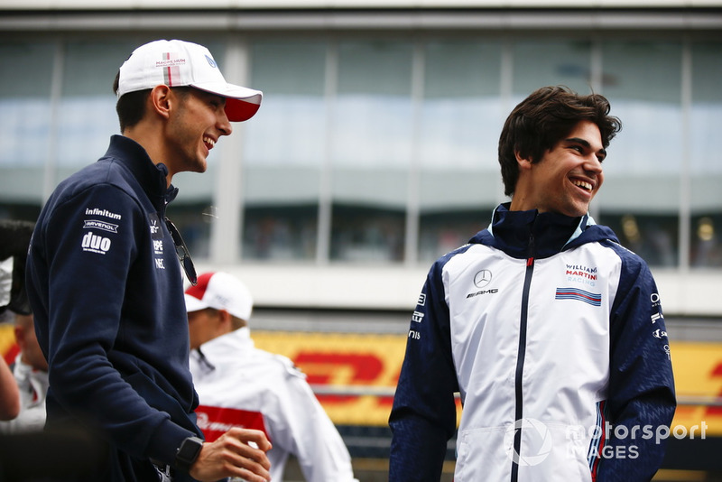 Esteban Ocon, Racing Point Force India y Lance Stroll, Williams Racing