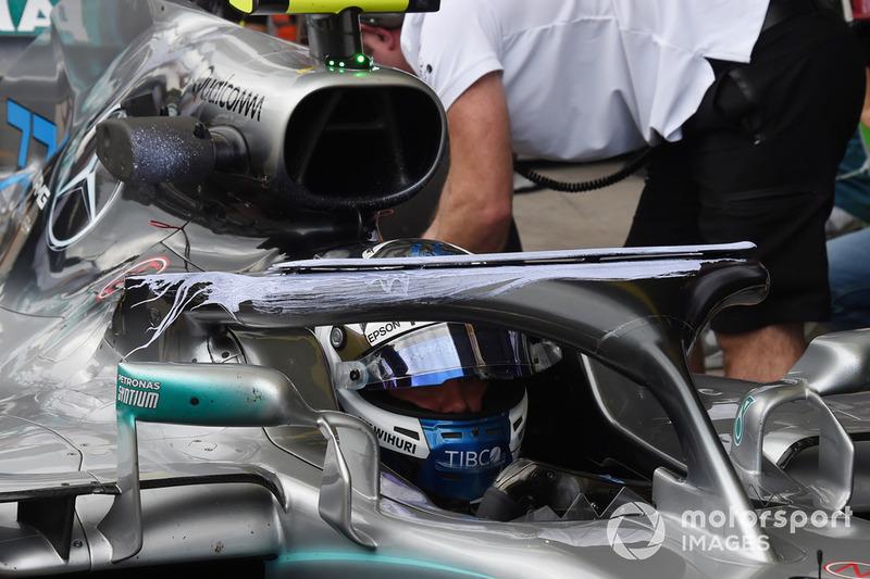 Valtteri Bottas, Mercedes-AMG F1 W09, Halo és aerofesték