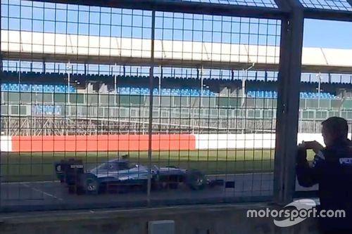 Teste da Mercedes em Silverstone