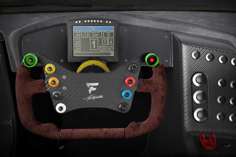 Кокпит Fittipaldi EF7 Vision Gran Turismo by Pininfarina