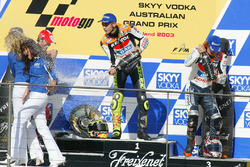 Podium: 1. Valentino Rossi, Repsol Honda Team; 2. Loris Capirossi, Ducati Team; 3. Nicky Hayden, Repsol Honda Team