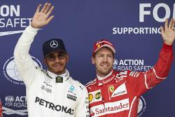 Pole: Lewis Hamilton, Mercedes AMG F1, Sebastian Vettel, Ferrari
