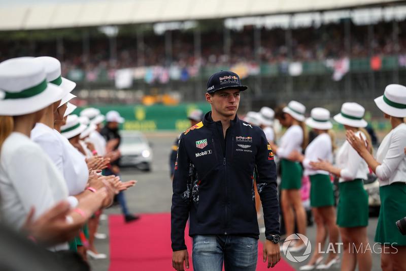 Max Verstappen, Red Bull Racing en el desfile de pilotos