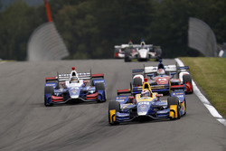 Alexander Rossi, Curb Herta - Andretti Autosport Honda, Takuma Sato, Andretti Autosport Honda, Carlos Munoz, A.J. Foyt Enterprises Chevrolet