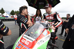 Sam Lowes, Aprilia Racing Team Gresini, et Fausto Gresini