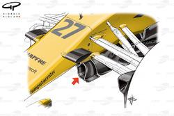 Renault R.S.17 turning vanes, Azerbaijan GP