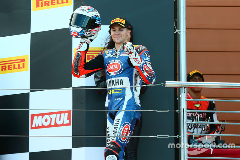 Podium: second place Florian Marino, Pata Yamaha Official STK 1000 Team