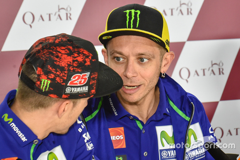 Valentino Rossi, Yamaha Factory Racing; Maverick Vinales, Yamaha Factory Racing