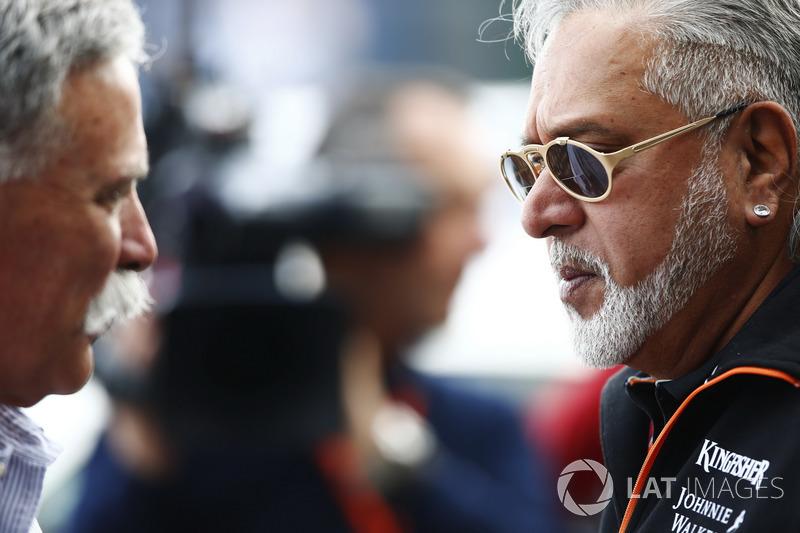 Керівник Ф1 Чейз Кері, власник Force India Віджей Маллья