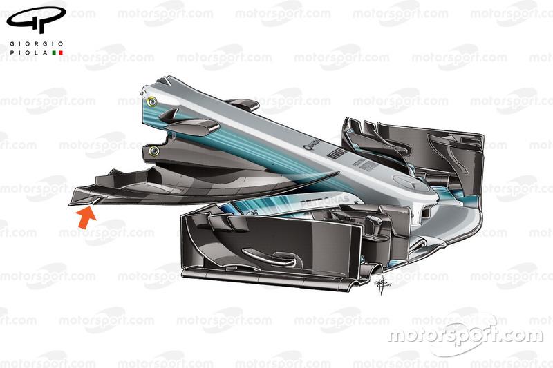 Ніс Mercedes W08, Гран Прі Австрії