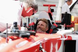 Jenson Button, McLaren im Formel-1-Doppelsitzer