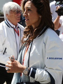 Fabian Flosi, wife of Bernie Ecclestone, Chairman Emeritus of Formula 1