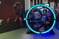 Dani Clos en la exhibición de GT Sport del Barcelona Games World