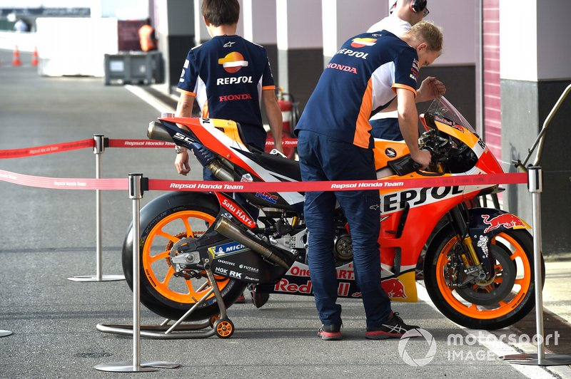 La moto del Repsol Honda Team