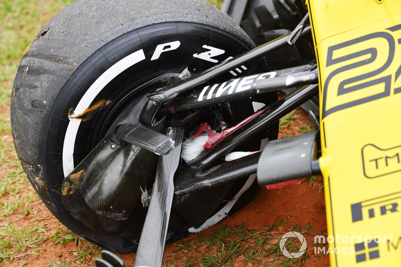 Coche chocado de Nico Hulkenberg, Renault Sport F1 Team R.S. 18