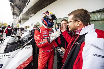 Andreas Seidl, chef del equipo Porsche Team, Mark Webber, Porsche Team