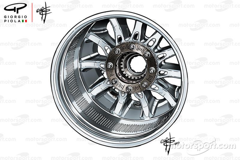 Колісний диск Mercedes F1 AMG W09