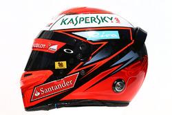 The helmet of Kimi Raikkonen, Ferrari