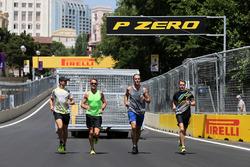 Jenson Button, McLaren Honda and Stoffel Vandoorne, third driver, McLaren F1 Team
