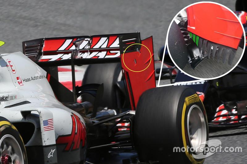 Detailaufnahme Haas F1 Team VF-16, Heckflügel