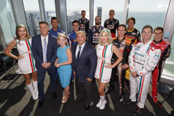 Supercars Chief Executive James Warburton, Minister for Tourism dan Major Events Kate Jones, Gold Co