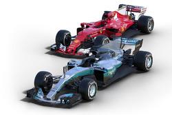 Ferrari SF70H e Mercedes AMG F1 W08