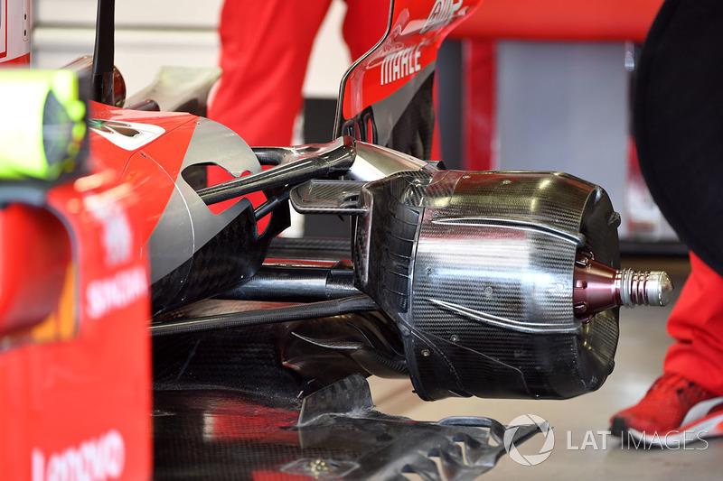 Eje trasero del Ferrari SF71H