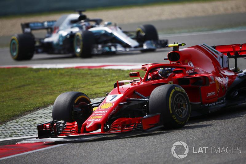Derde plaats Kimi Raikkonen, Ferrari SF71H
