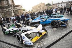 Formule E wagens in Rome