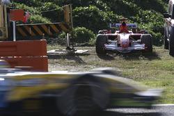 Broken down car of Michael Schumacher, Ferrari 248F1