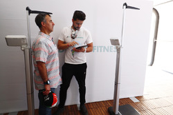 Fans get involved with an F1 driver fitness display