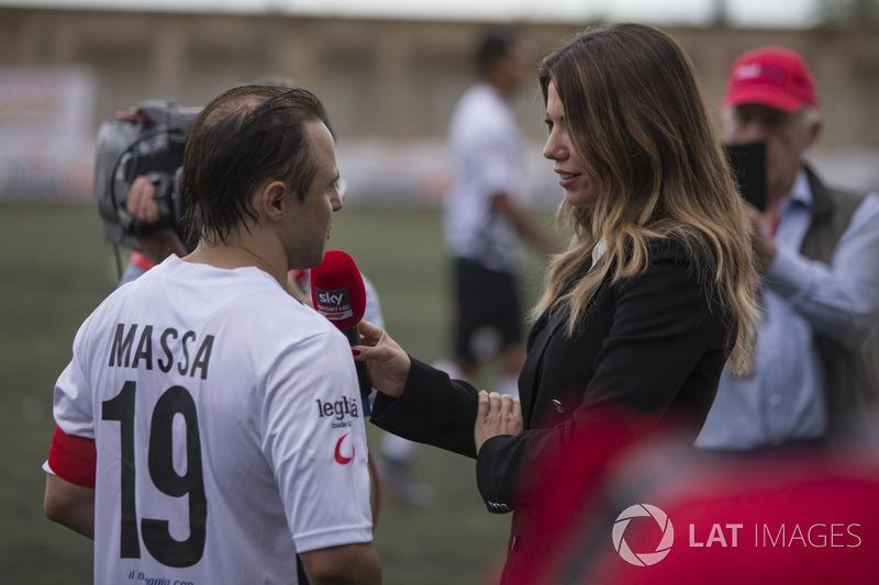 Felipe Massa habla con Federica Masolin, Sky Italia