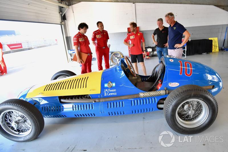 Себастьян Феттель и Maserati 4CLT/48