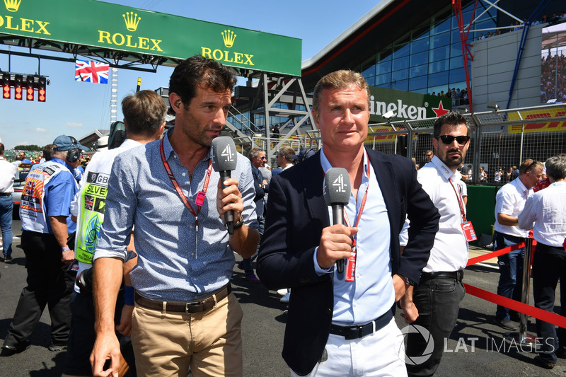 Mark Webber, y David Coulthard, Channel 4 F1