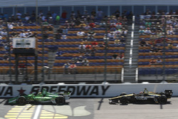 Spencer Pigot, Ed Carpenter Racing Chevrolet, James Hinchcliffe, Schmidt Peterson Motorsports Honda