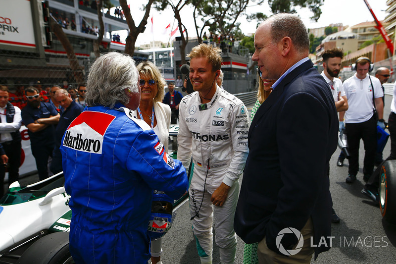 Keke e Nico Rosberg con il Principe Alberto di Monaco