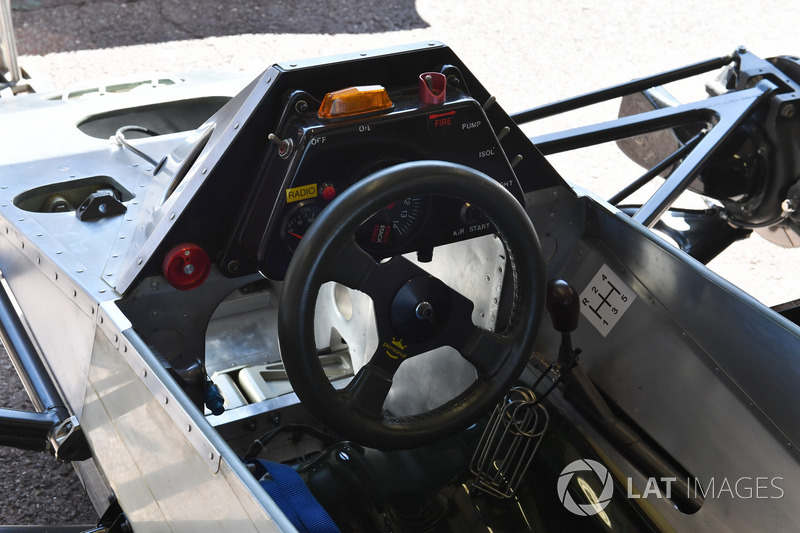 Williams FW08 steering wheel and cockpit