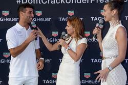 Daniel Ricciardo, Geri Halliwell Horner and Bella Hadid