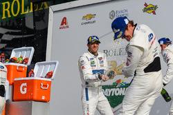 #66 Chip Ganassi Racing Ford GT, GTLM: Sébastien Bourdais celebrate with #67 Chip Ganassi Racing Ford GT, GTLM: Scott Dixon