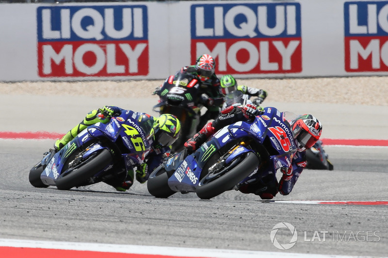 Maverick Viñales, Yamaha Factory Racing, Valentino Rossi, Yamaha Factory Racing, Johann Zarco, Monster Yamaha Tech 3