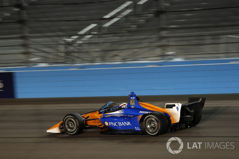 Scott Dixon, Chip Ganassi Racing Honda, yeni aeroscreen'i test ediyor
