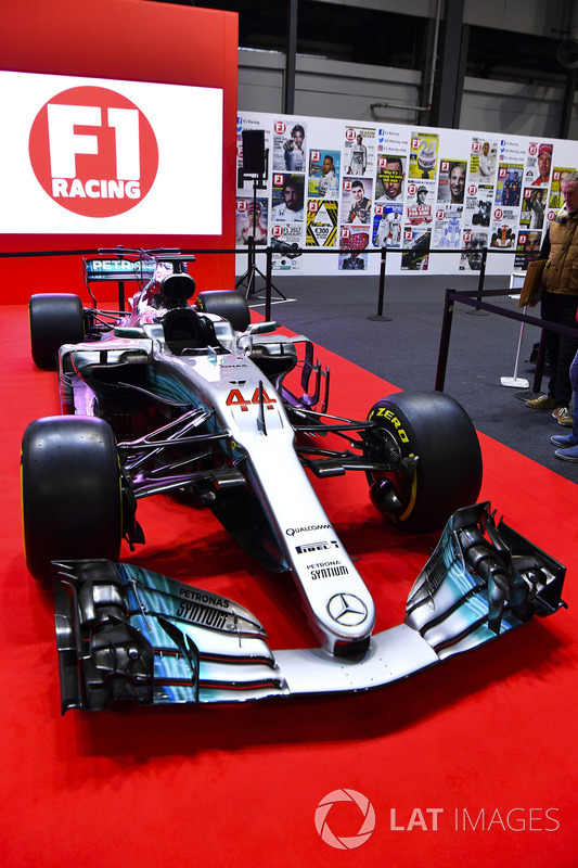 A Mercedes on the F1 Racing Stand