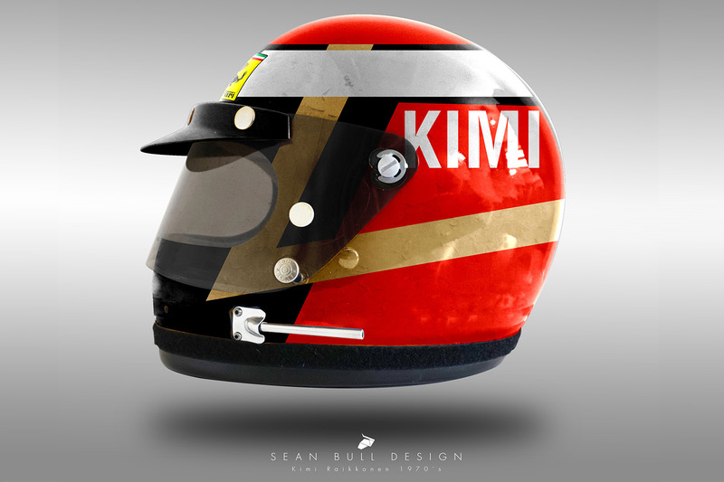 Casco concepto 1970 de Kimi Raikkonen