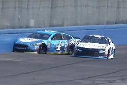 Kevin Harvick, Stewart-Haas Racing Ford, crashes after contact with Kyle Larson, Chip Ganassi Racing Chevrolet
