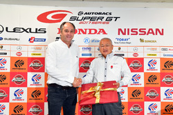 Gerhard Berger, ITR Chairman, Masaaki Bandoh, Chairman of GTA