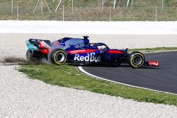 Hors piste pour Brendon Hartley, Scuderia Toro Rosso STR13