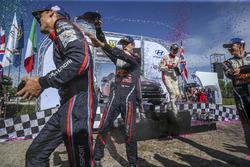 Podium: Winners Sébastien Ogier, Julien Ingrassia, M-Sport Ford WRT Ford Fiesta WRC, Dani Sordo, Carlos Del Barrio, Hyundai Motorsport Hyundai i20 Coupe WRC